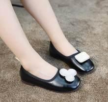الأطفال أحذية خفيفة بدون كعب الفتيان شقة حذاء طفل حذاء كاجوال طفل الفتيات تنفس الانزلاق على أحذية لينة أسفل بلون(China)