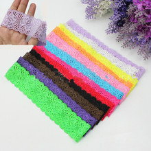 12Pcs/Set Colorful Girl Kids Toddler Baby Lace Stretch Elastic Hair Band Headband Headwear Accessories(China (Mainland))