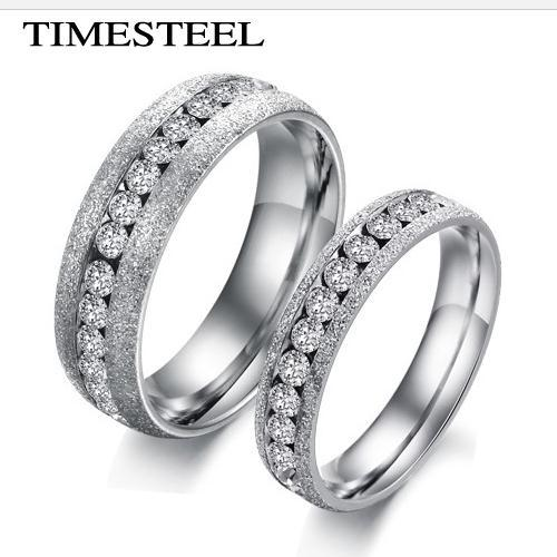 Stainless Steel Diamond Engagement Rings 316l Stainless Steel Rings