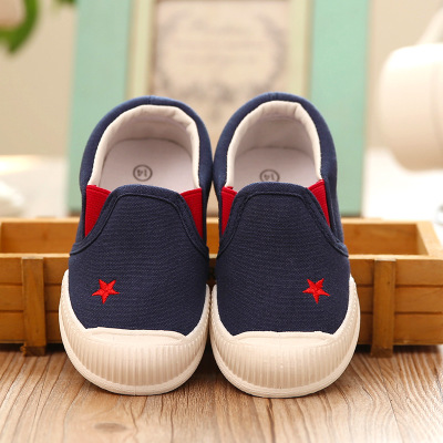 2016 Autumn Fashion Star Kids Shoes Boys Girls Shoes Soft Sole Comfortable Baby Shoes for 1-5 Years Old Canvas Casual Sneakers(China (Mainland))