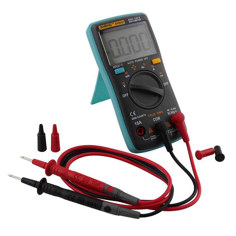 Backlight Digital Multimeter 6000 Counts AC / DC Ammeter Voltmeter Ohm Meter Portable Car-styling Retail&Wholesale Free Shipping