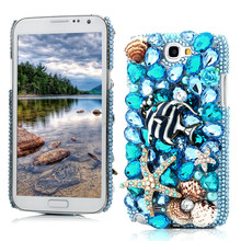 Luxury 3D Bling Crystal Rhinestone Diamond Transparent Hard Plastic Back Cover Case For Samsung Galaxy Note 2 II N7100 7100(China (Mainland))