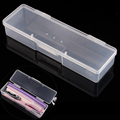 1pcs Rectangle Nail Art Tool Storage Box Plastic Empty Tweezers Clippers Nails Pens Cuticle Pusher Polishing