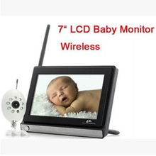 7 Inch 2.4G Baby Monitor Wireless Baby Monitor Baby Care Instrument Infrared Camera Monitor ultrassom portatil color music