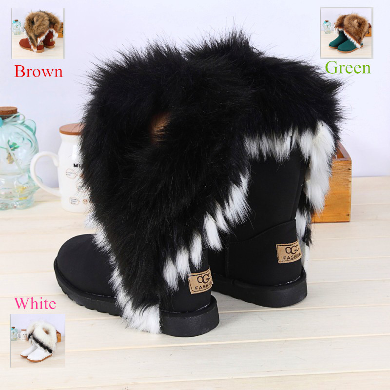 Гаджет  New Women Winter Snow Boots leather boots Ankle Boots Warm fur inside snow boots for women women