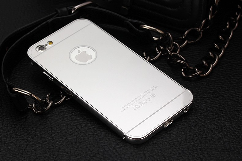Ultra Thin 0.5mm Metal Aluminum Frame Mirror + Back Case For Apple iphone 5C Moblie Phone Cases Mirror Shell Hybrid Cover