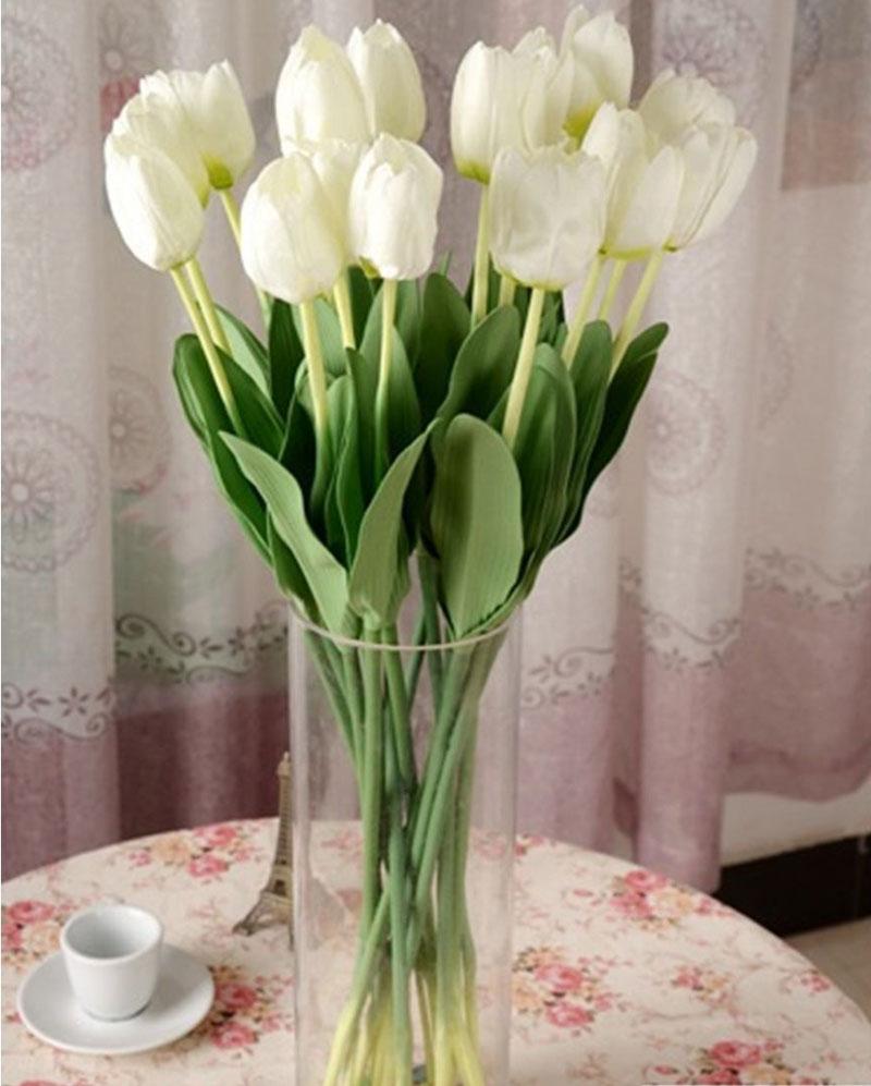 Artificial Tulip Fake Silk Flower Arrangement Wedding Party Home Hotel
