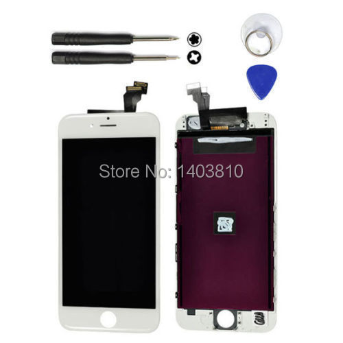 OEM Original White LCD Touch Screen Display Digitizer Assembly for iPhone 6 4.7 inch + Tool(China (Mainland))