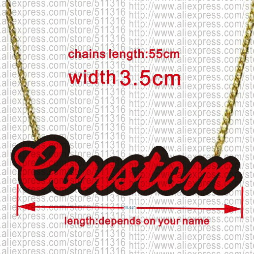 Name &amp;Words Customized Pendant Necklace  24pieces /lot<br>