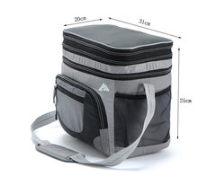 Brand 2015 HOT 31*25*20CM Car warmer Insulated Case and  Cooling Cooler bags for Lunch bags & Gray,Blue(China (Mainland))