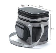 Marque 2015 HOT 31 * 25 * 20 CM voiture chaud isolé cas et de refroidissement refroidisseur sacs pour sacs à Lunch et gris, Bleu(China (Mainland))