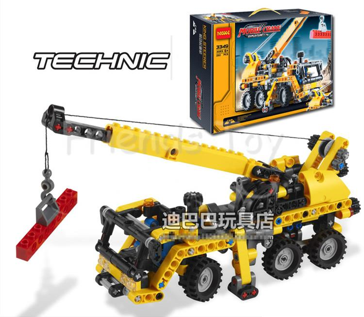 Truck Crane Mobile Crane Transport Car Model Exploiture Building Block Sets DIY Toys Gift Compatible With Lego Technic(China (Mainland))