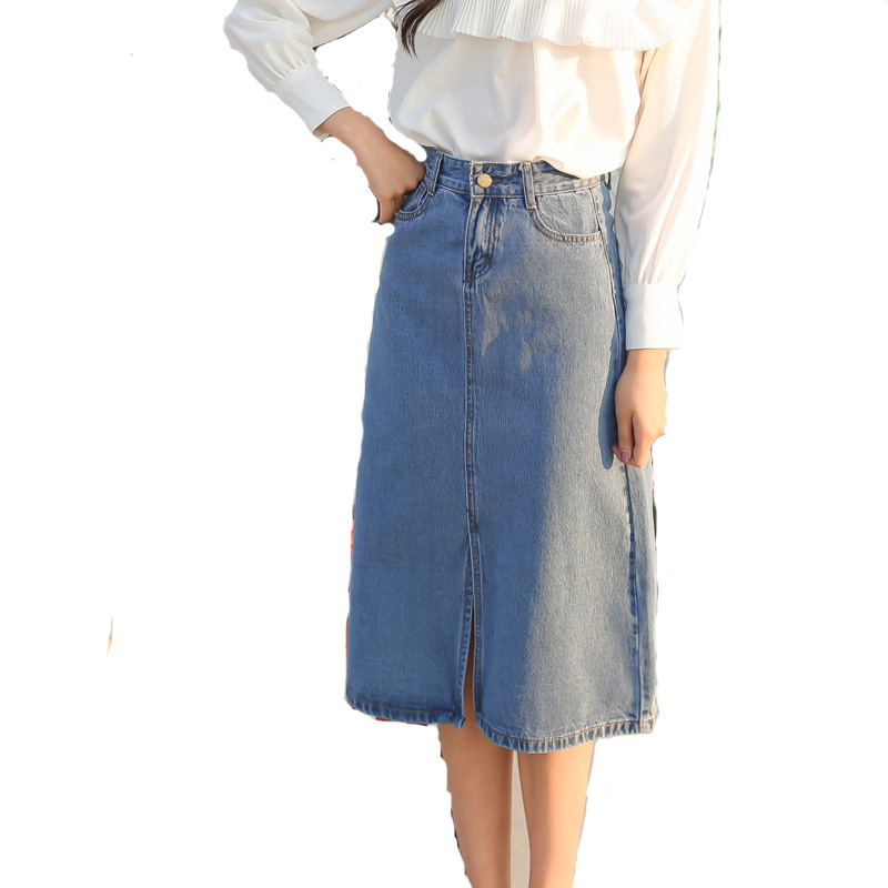 Online Get Cheap Mid Length Denim Skirts -Aliexpress.com | Alibaba ...