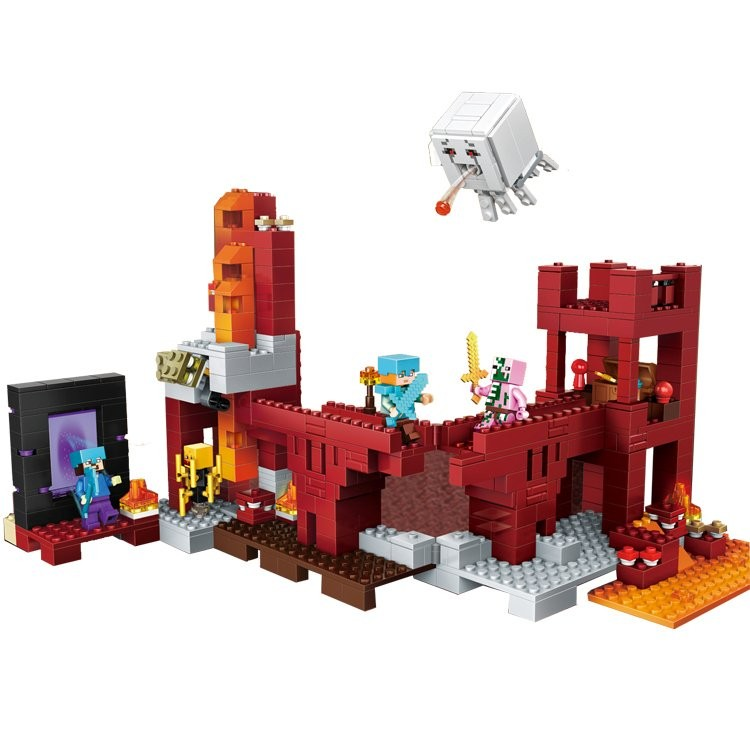 children toy CHINA BRAND 393 self-locking bricks Compatible with Lego 21122 the Nether Fortress no original box