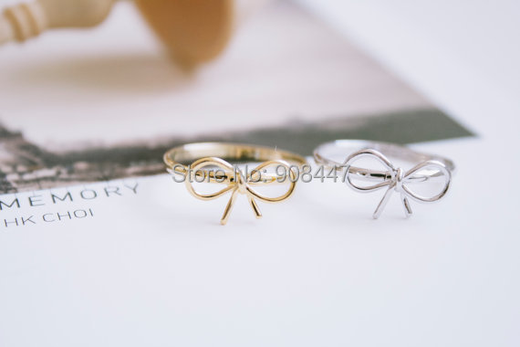 2016 New Fashion Knuckle Ring Ribbon Bow Knot Ring,Infinite Infinity Rings,Eight 8 Shape Rings Women's Gift R212 - yuki ho's store