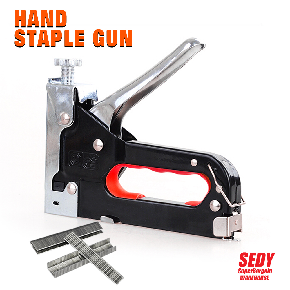 2016 New BOSI Heavy Duty Rapid Upholstery Hand Staple Nail Tacker Stapler Gun Set 6012<br><br>Aliexpress