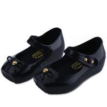 Enfants Ballet chaussures couvre Mini Melissa chaussures pour filles sandales d'été 2016 arc chaussures de gelée en plastique Meisjes Schoenen Prinses(China (Mainland))