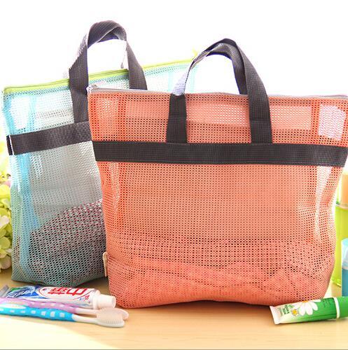 Korean creative travel shopping bag multifunctional portable bag for washing mesh makeup bag(China (Mainland))