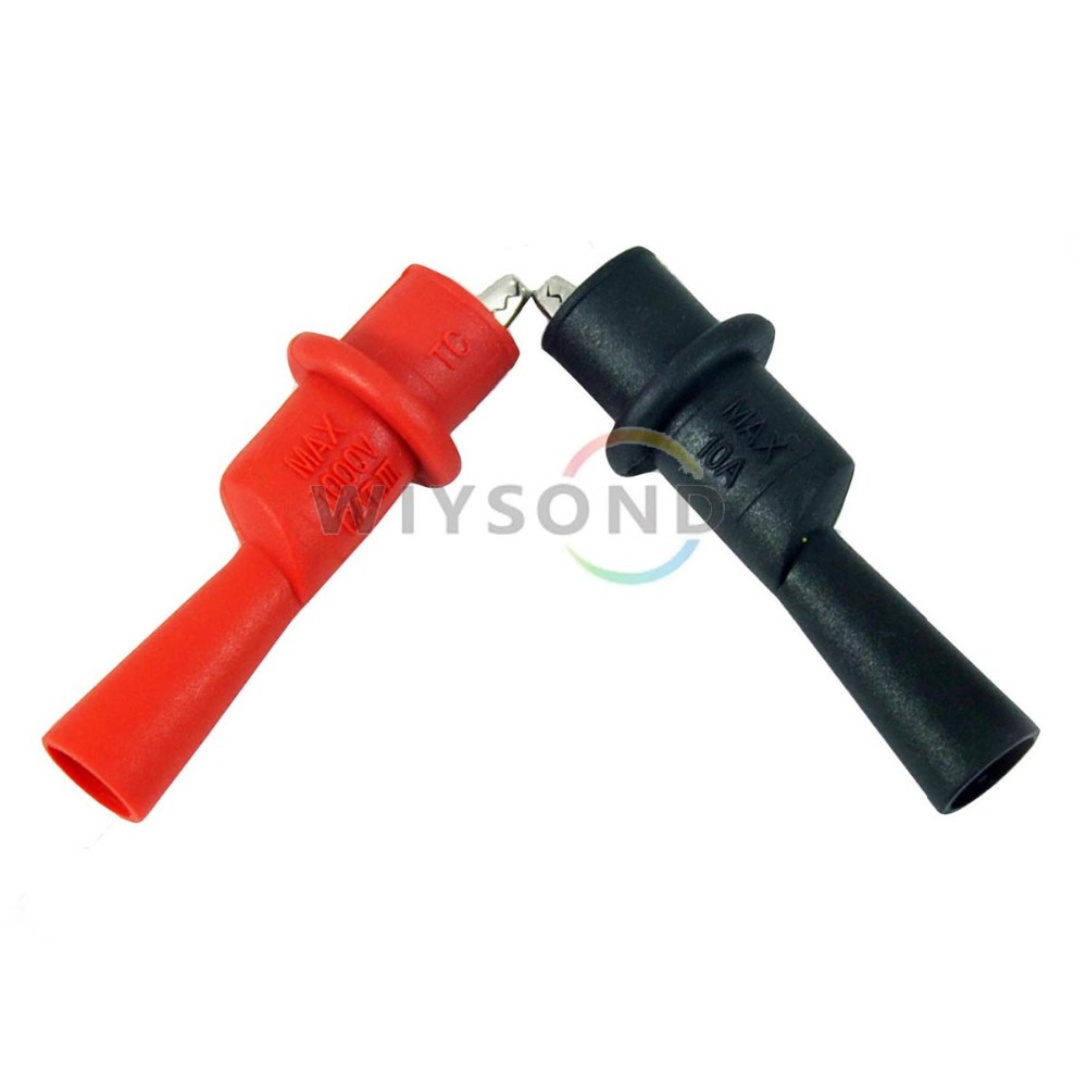M005 Meter Alligator Crocodile Clip clamp test lead probe for tester such fluke etc. FREE SHIPPING(China (Mainland))