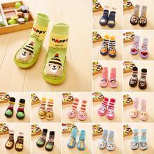 Cute Baby Boys Girls Socks Anti-Slip Newborn Animal Cartoon Shoes Slippers Boots