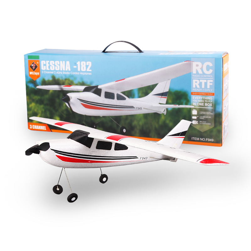 3CH Fixed Wing Plane Wltoys F949 rc airplane Cessna-182 2.4G remote control toys Electric flying Aircraft RTF beyond F939 F929