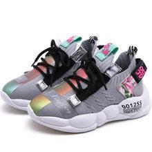 חדש 2019 סתיו ילדי ספורט סניקרס תינוק בנות מקרית סניקרס ילדי רשת נעלי בני מותג נעלי שחור רך סניקרס מאמן(China)