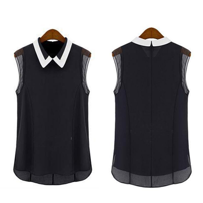 1pc Womem Lady Summer Cozy Chiffon Sleeveless Vest Shirt Tops Blouse Party Club(China (Mainland))