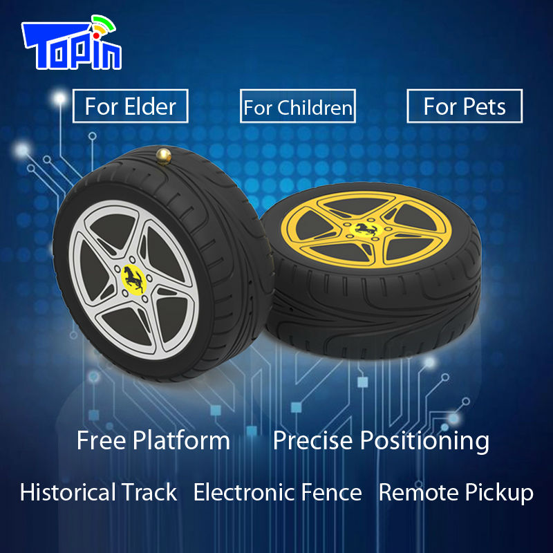 Topin MD603 Micro GPS Locator Anti-lost Tracker Mini Tyre Desgin Remote Pickup Call Real-time Positioning for Children Elder Car(China (Mainland))