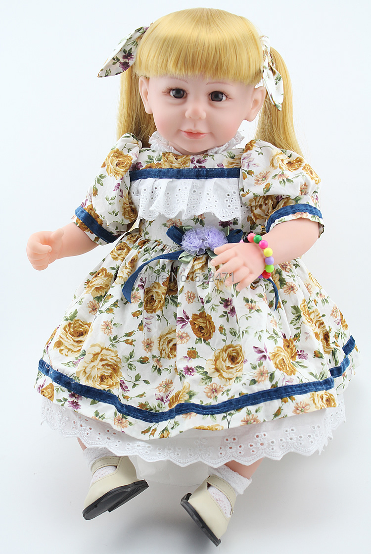 NPK Reborn Toddler Dolls Soft Silicone Reborn Babies For Sale New Fashion Simulation Baby Dolls Toy 20 inch(China (Mainland))