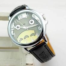 Totoro Cartoon mujeres reloj 2015 nuevo reloj de moda de cuero genuino reloj Casual reloj de cuarzo analógico Relogio Relojes horas Feminino