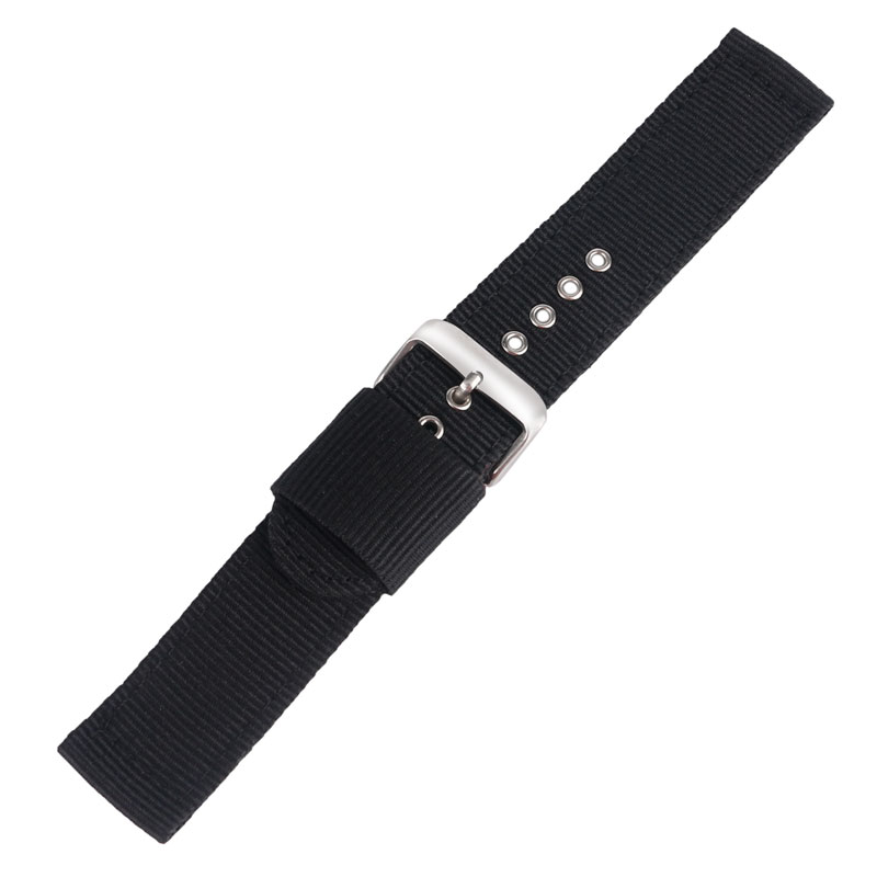 Casual Nylon 20/22/24mm Black/Green/Blue/Orange Watch Band Strap Fabric Stainless Steel Pin Buckle Best Replacement(China (Mainland))
