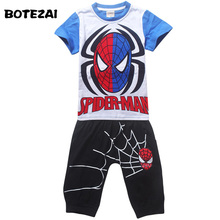 Buy 2017 Summer Kids Clothes Baby Boys Clothing Children Suits Spiderman Kids Boy Set T-shirt+Pants Cartoon Clothes Sports Suit for $9.23 in AliExpress store