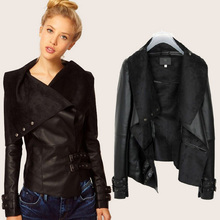 Ladies Fashion Women's pu leather Jacket Short Coat Street Casual Girls Outwear