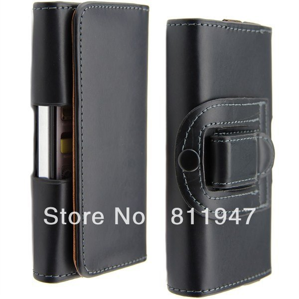 (Pack sell!) New for iphone 5 pu waist hanged mobile phone protection shell dust shell(China (Mainland))