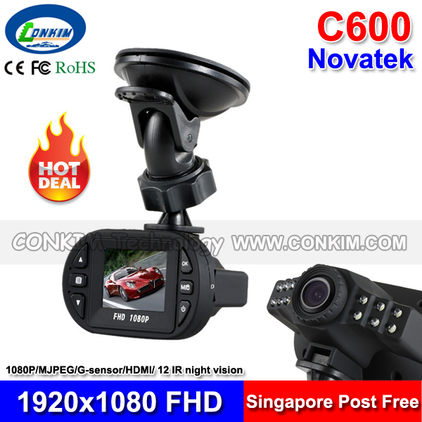 Smallest Mini Car Dash Camera C600 DVR Black Box 1080P Full HD 1.5 inch LCD+120 degree wide angle G-sensor Motion Detect - Conkim Tech store