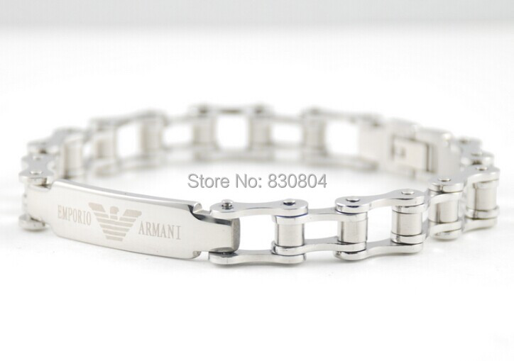 YYBR220775 silver Stainless steel bracelet mens 316L width bangle inlay ITALY designer valuable powerful great gift new - Online Store 830804 store