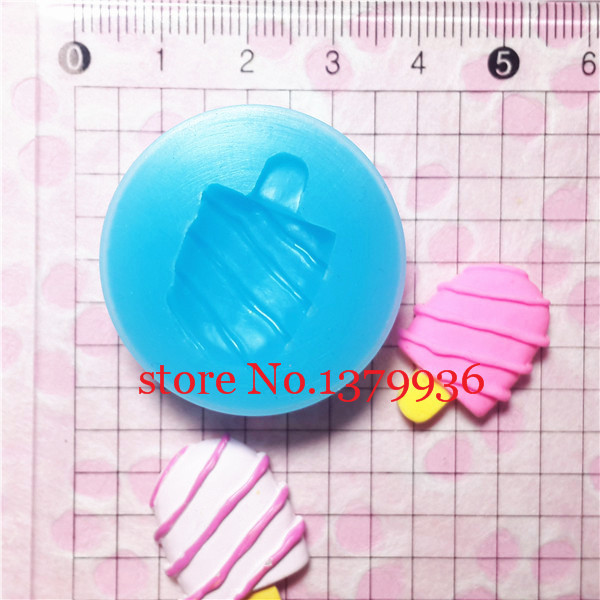 Free shipping X001YL Crunchy Ice Cream Bar / Popsicle Silicone Flexible Push Mold Jewelry Charms Resin Paper Clay Fimo Gum Paste(China (Mainland))