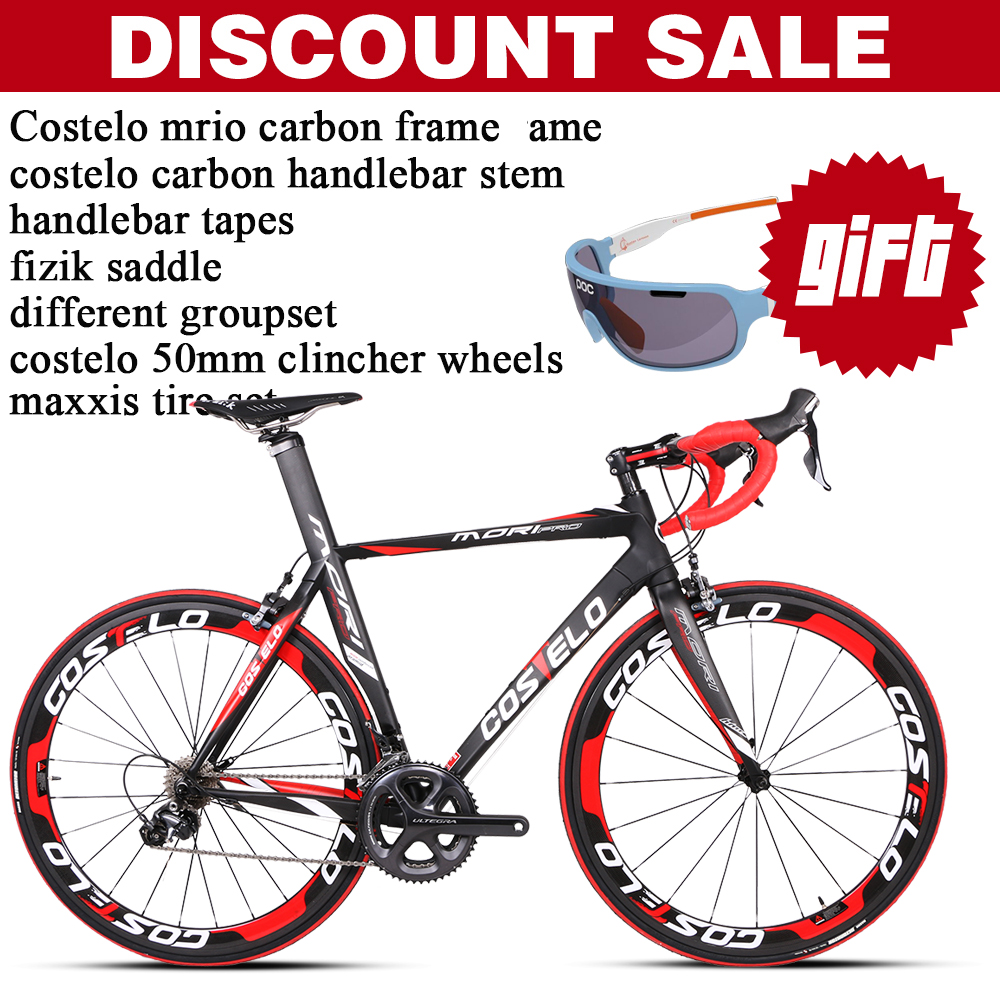 COSTELO Complete Bikes Carbon Fibre Cycling Complete Bike With Different Groupset Frame Wheels handlebar stem saddle EMS Free(China (Mainland))