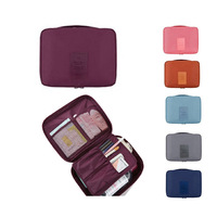 Portable Unisex Waterproof nylon Travel Cosmetic Make Up Toiletry Holder Beauty Wash Organizer Storage Purse Bag Monopoly Pouch