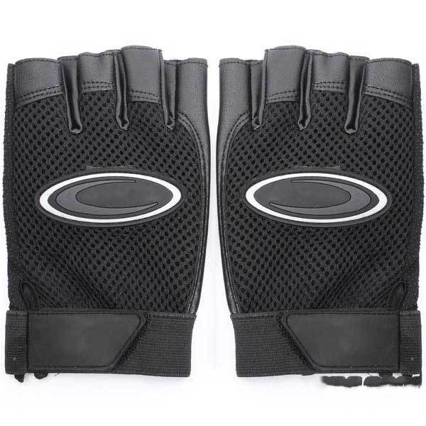 LacieMart Leather Weightlifting Half Finger Gloves Gym Exercise Training