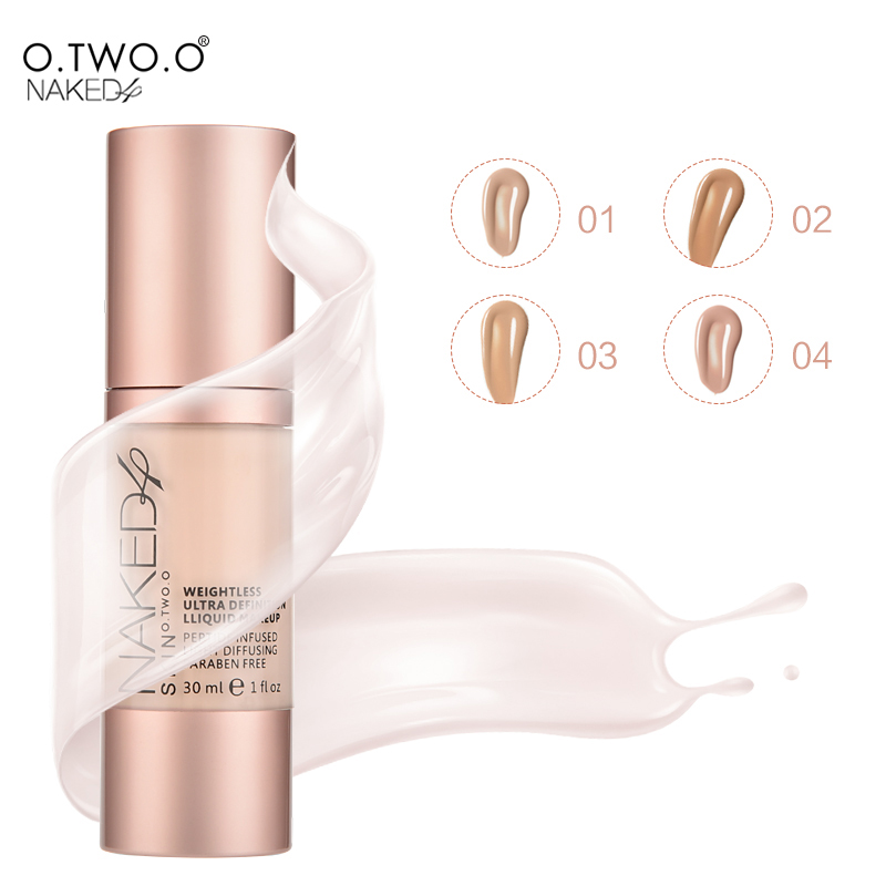O.TWO.O 4Colors Make Up Foundation Beauty Waterproof Flawless Coverage Base Cosmetics Liquid Foundation Cream Makeup Primer(China (Mainland))