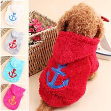 Buy New 2016 Cute Autumn/Winter Pet Dog Clothes Anchor Coral Velvet Pet Sweatshirts Hooded Small Dog Clothing Dogs Coats Jackets for $4.20 in AliExpress store