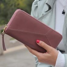 Geometric Wristband Women Wallet female long zipper women purse large capacity coin wallet purse brand new Fashion phone clutch(China (Mainland))