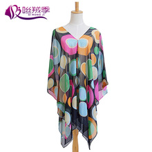 2015 New Colorful Beach Essential Travel Season Women Scarf Sunscreen Clothing Dual-purpose Shawl Blouse Buttons