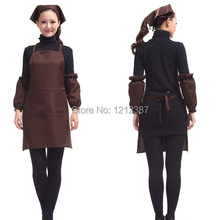 Coffee Color Fashion Light Weight Polyester Kitchen Apron For Lady HB88(China (Mainland))