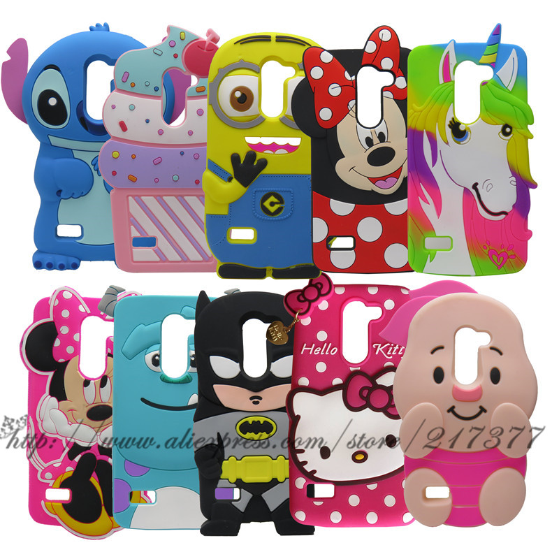 Phone Case LG K10 LTE M2 F670 Q10 3D Cute Cartoon Minnie Stitch unicorn Sulley Silicone Back Cover LG K10 Phone Case