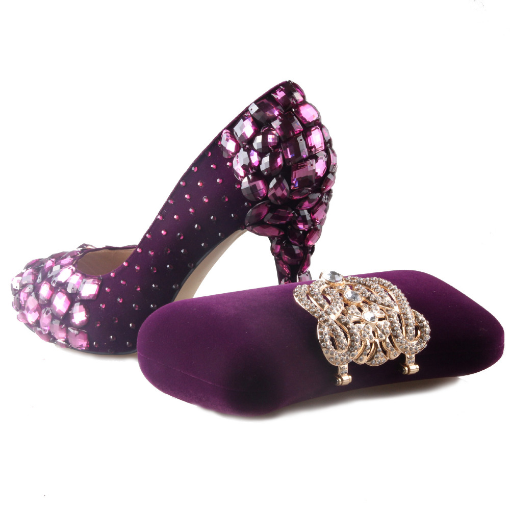 Purple Closed Toe Heels - Is Heel