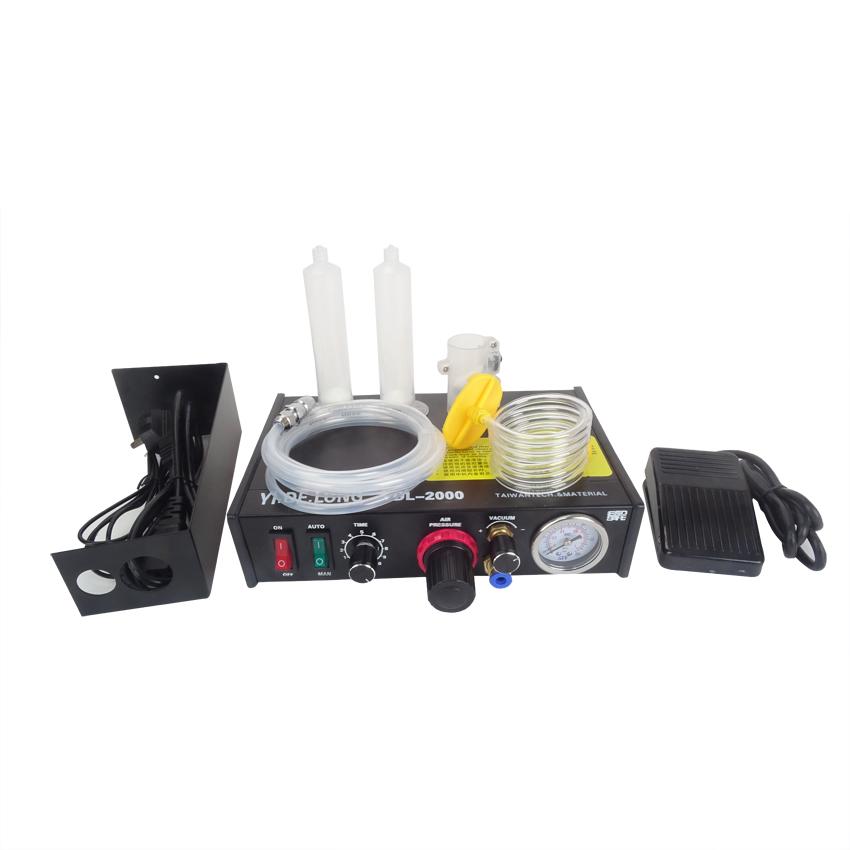 Фотография Free ship by DHL 4PCS YDL-2000 Semi-automatic Glue Dispenser AB UV Glue Dispenser Solder Paste Liquid Controller for SMD PCB