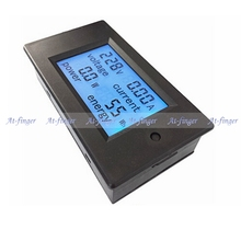 1pcs New LCD AC 80 260V 20A voltmeter Ammeter Volt ampere Power Energy meter Gauge with