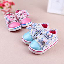 Baby Shoes For Girls Sneaker Shoes Spring Casual Baby Girls Canvas Shoes Lace-Up Princess Girls 0-1 Years Breathable Shoes(China (Mainland))